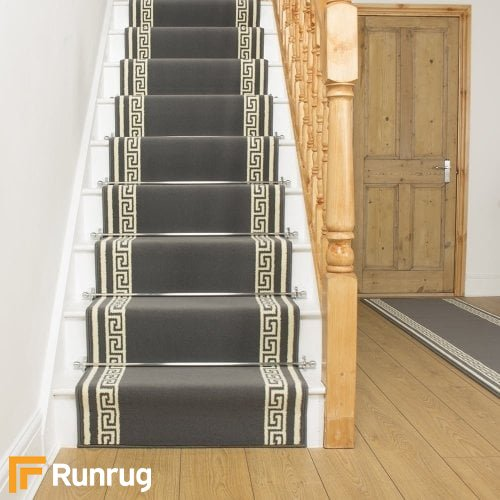 Key Grey Stair Runner
