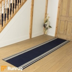 Key Navy Blue Hall Runner