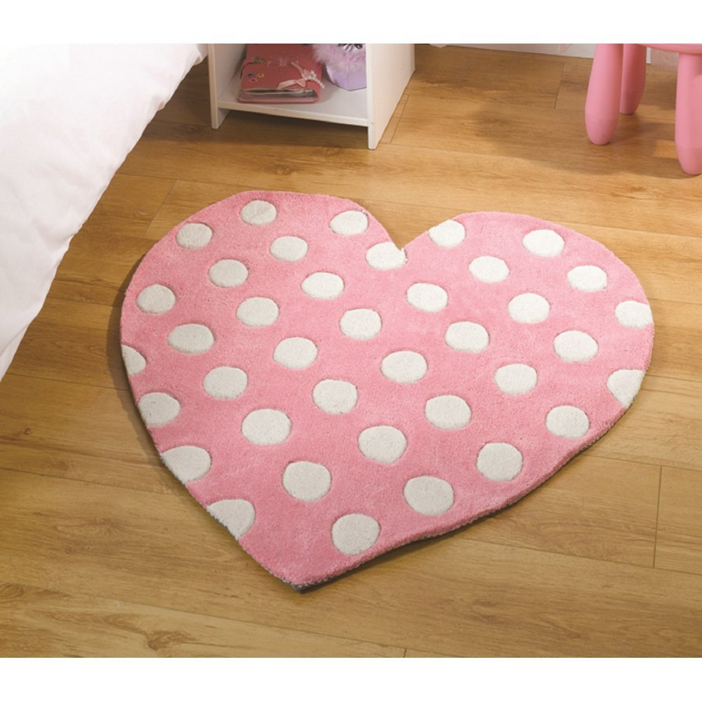Kiddy Corner Polka Heart Rug Only Available At Carpet