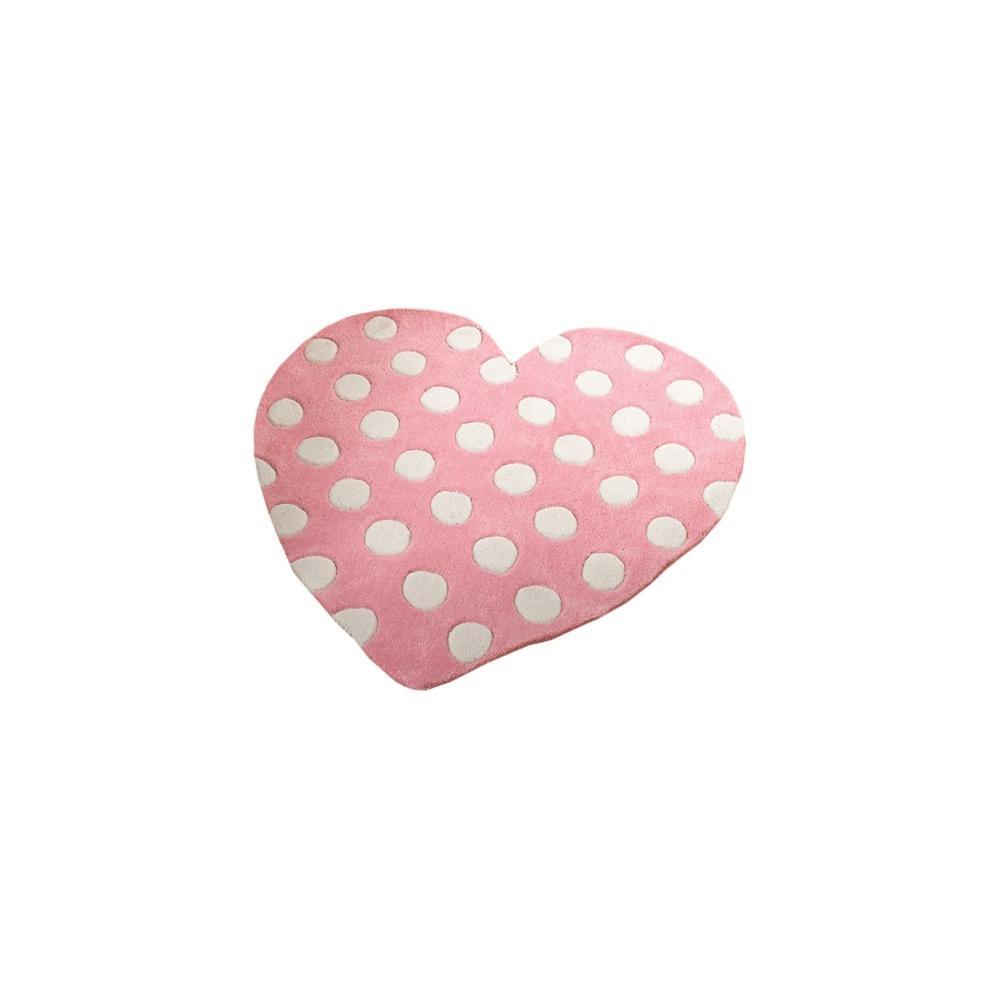 Heart Pastel Pink Children's Rug