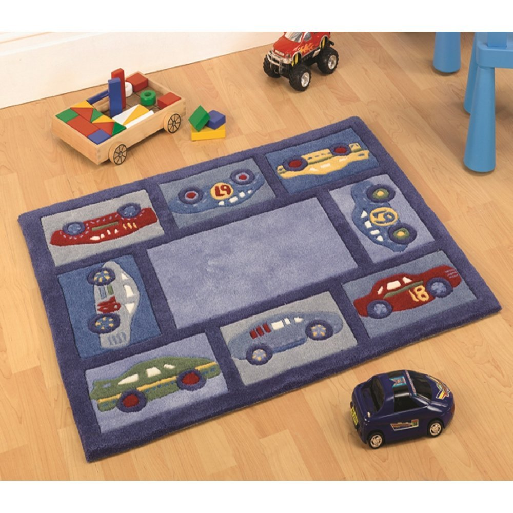 Kiddy Corner Racing Car Boy Rug Only Available At Carpet