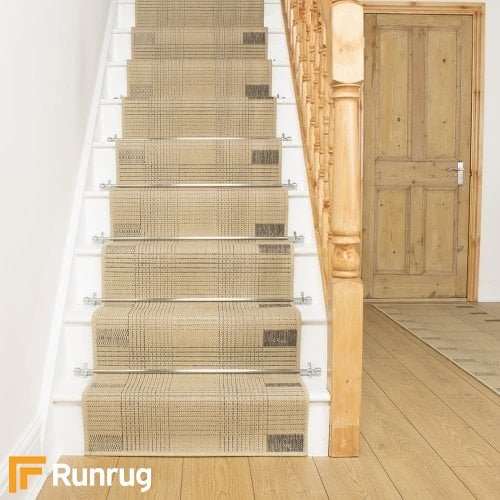 Ladder Beige Stair Runner