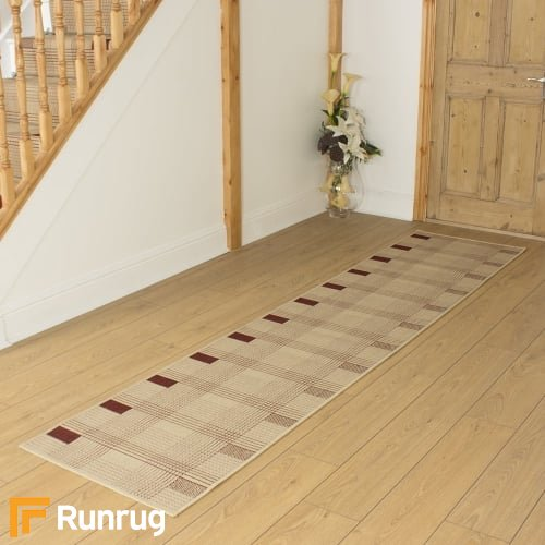 Ladder Red Beige Hall Runner