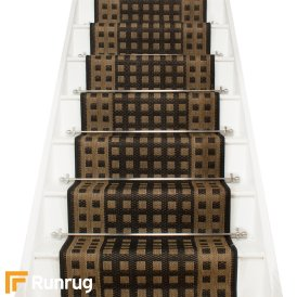 Lattice Black Stair Runner