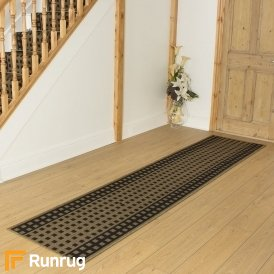 Lattice Dark Brown Hall Runner