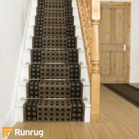 Lattice Dark Brown Stair Runner