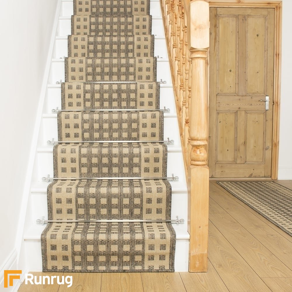 Tweed Stair Runner Rug Lattice