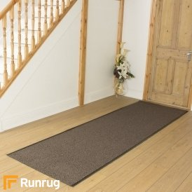 Leyla - Brown Commercial Barrier Mat Runner Hall Runner