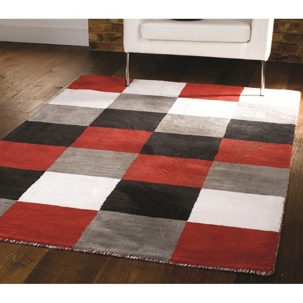 Black Red White Amp Grey Liberty Glade Rug Carpet Runners Uk