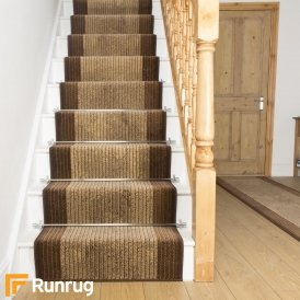 Lines Brown Stair Runner