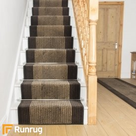 Lines Cacao Stair Runner