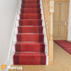Lines Red Stair Runner
