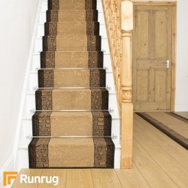 Lion Brown Stair Runner
