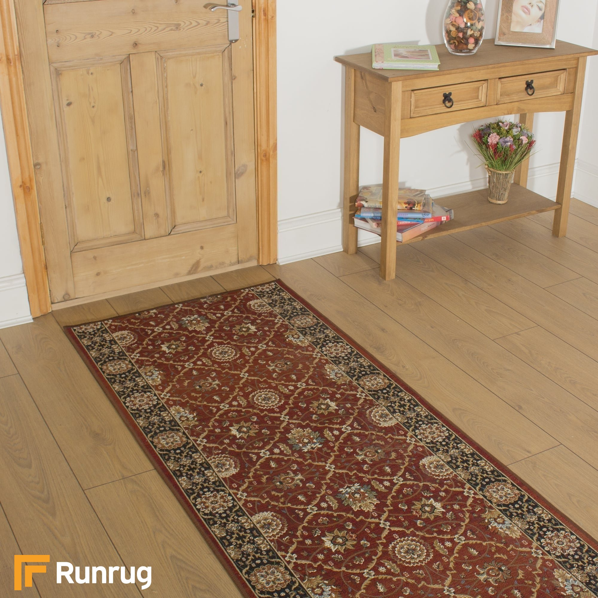 Lucci red black hall runner - Black carpet runners for hall ...