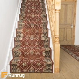 Lucci Red Black Stair Runner