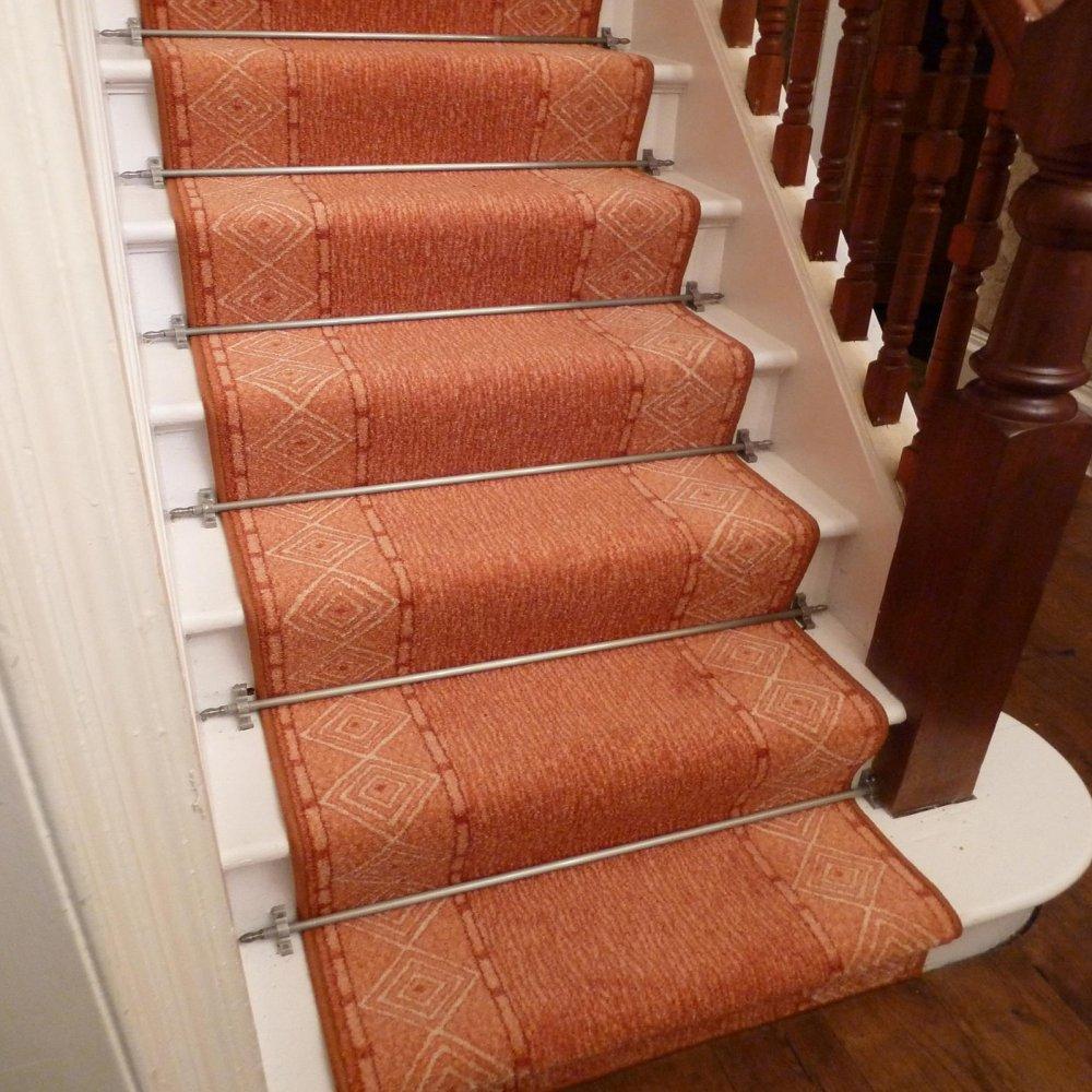 Terracotta Stair Carpet Runner Mali Carpet Runners Uk