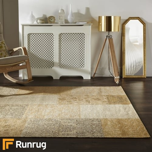 Manhattan - Patchwork Chenille Gold