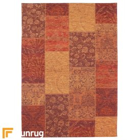 Manhattan - Patchwork Chenille Terracotta