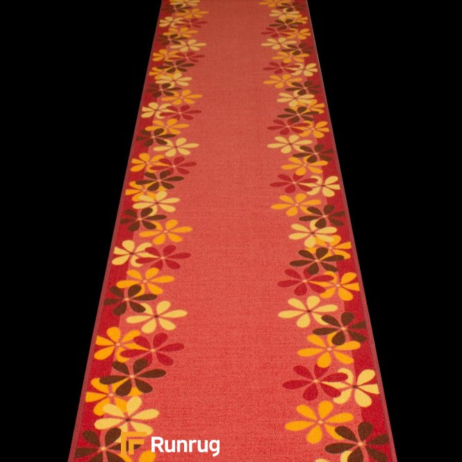 Margerite - Red Hallway Carpet Runner