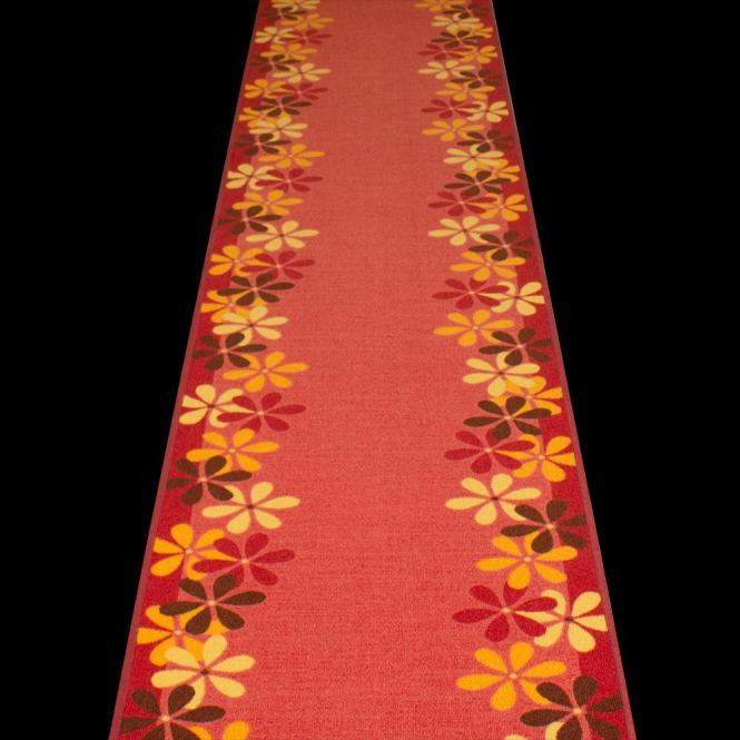 Margerite - Red Hallway Carpet Runner