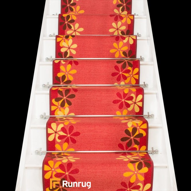 Margerite - Red Stair Carpet Runner