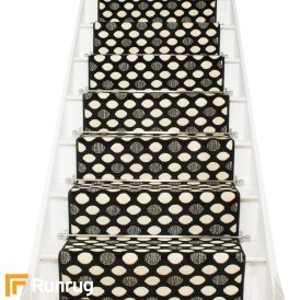Matrix Black Stair Runner