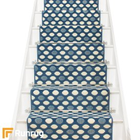 Matrix Blue Stair Runner