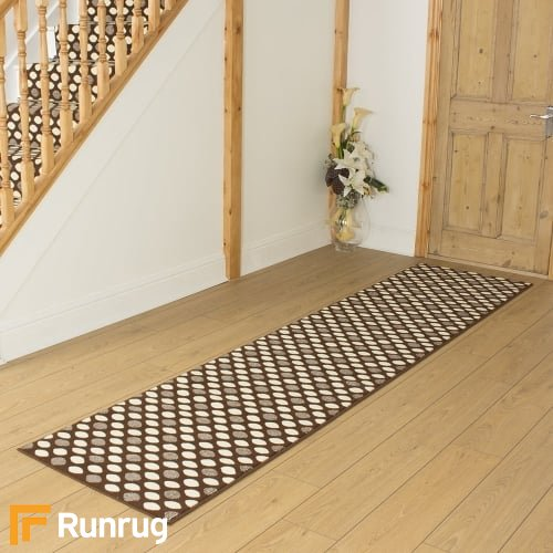 Matrix Dark Brown Hall Runner