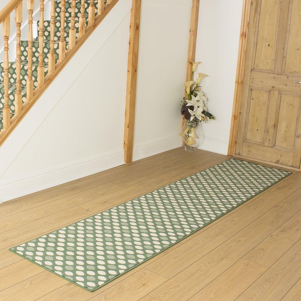 Green Hallway Carpet Runner Matrix