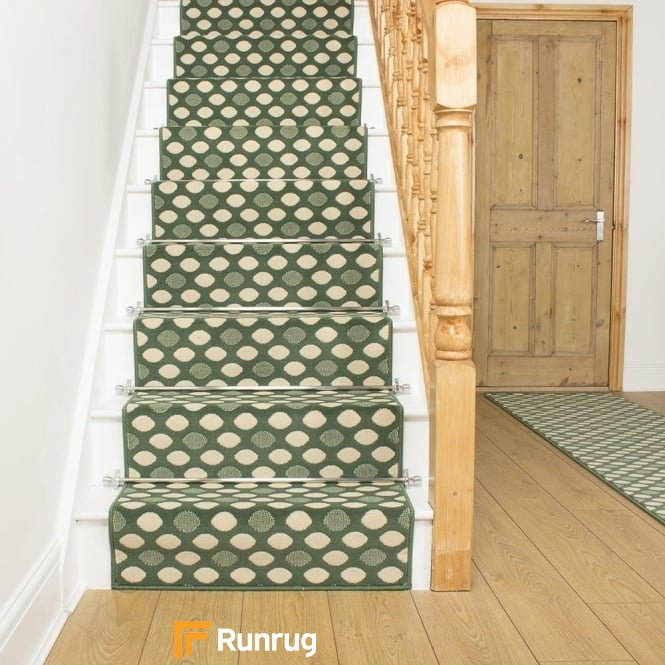 Matrix Green Stair Runner