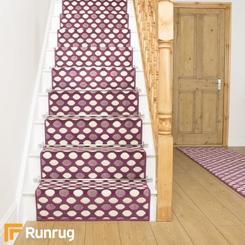 Matrix Purple Stair Runner
