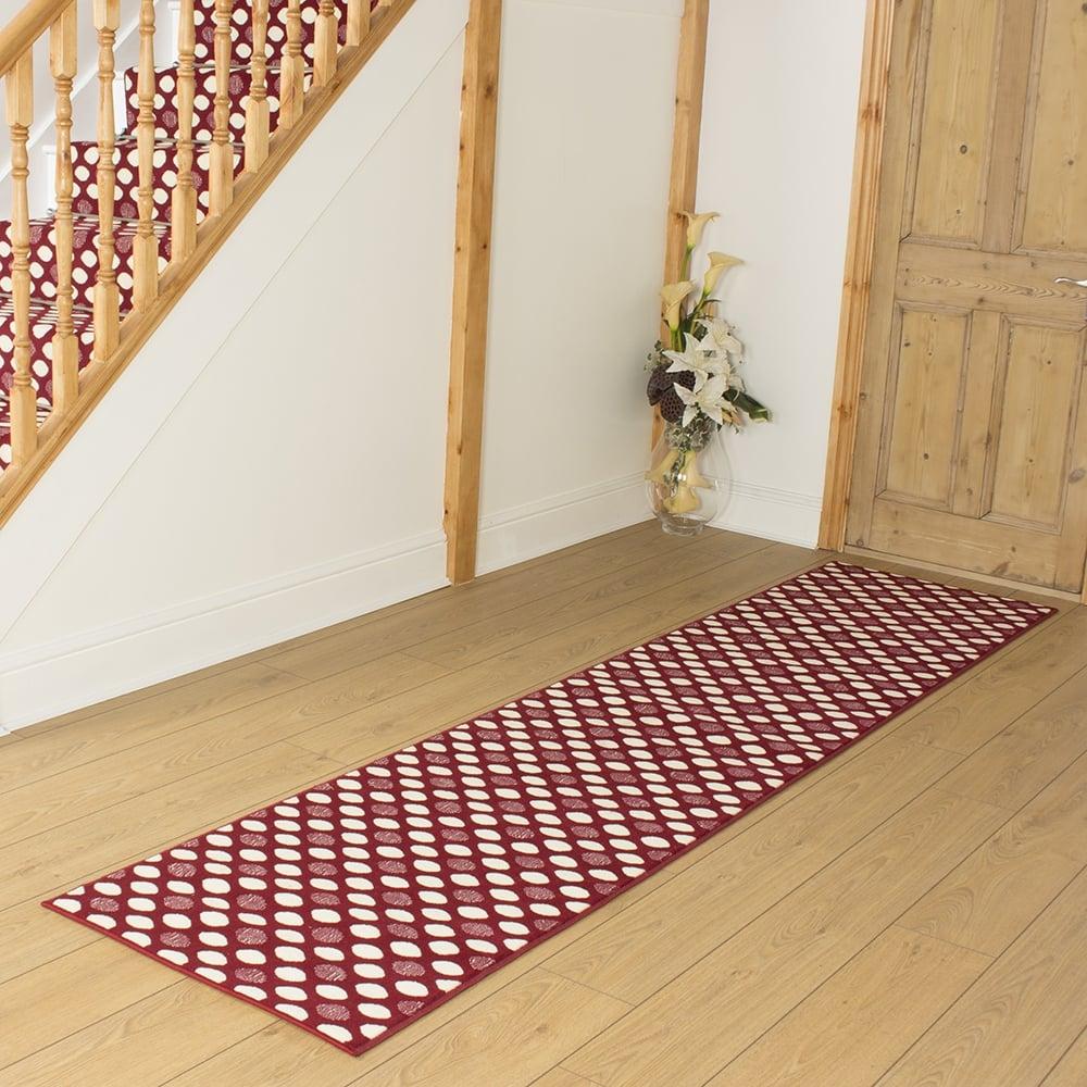 Red Hallway Carpet Runner Matrix
