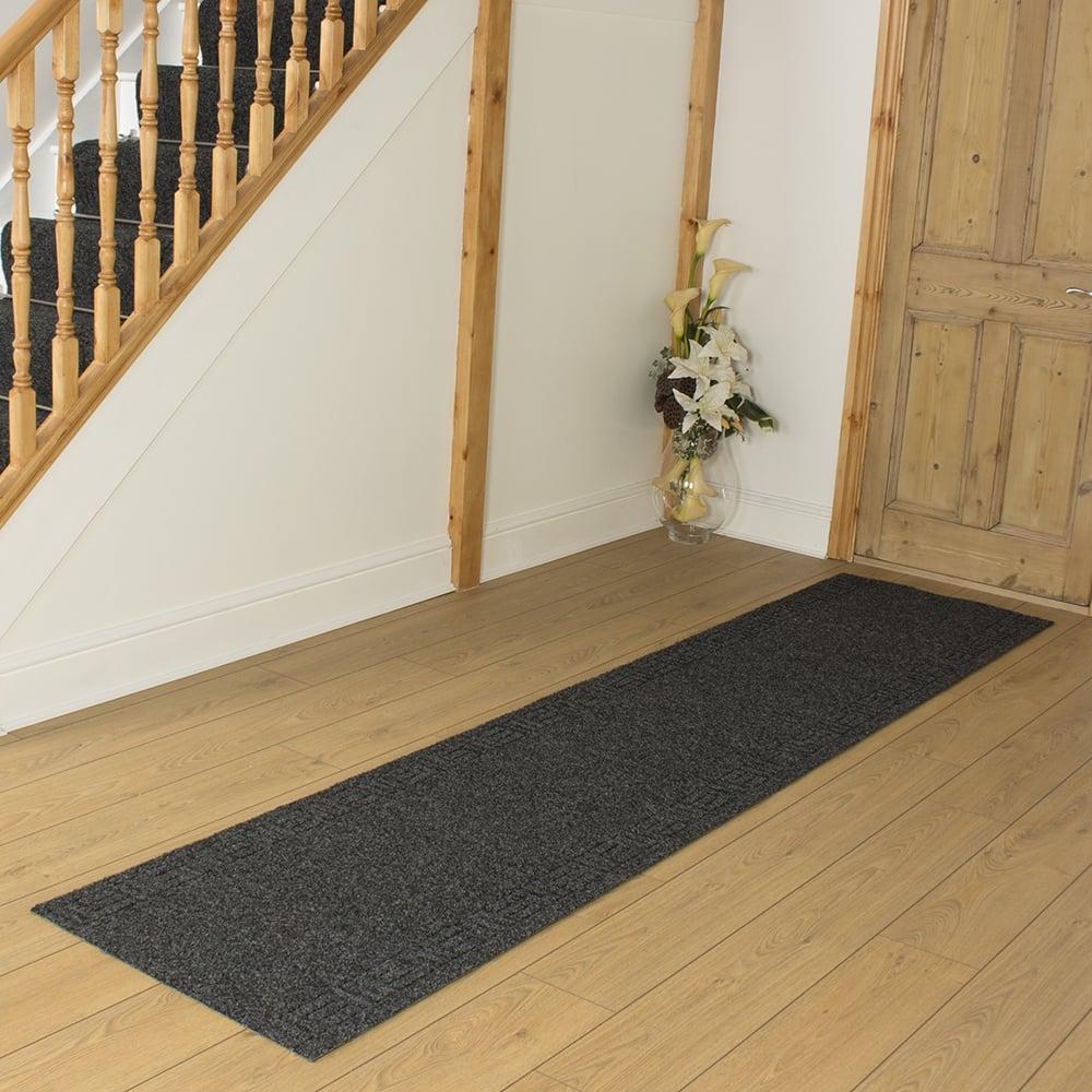 Mega black hall runner hallway carpet runners from carpet runners uk uk - Black carpet runners for hall ...
