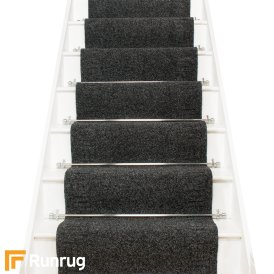 Mega Black Stair Carpet Runner Stair Runner