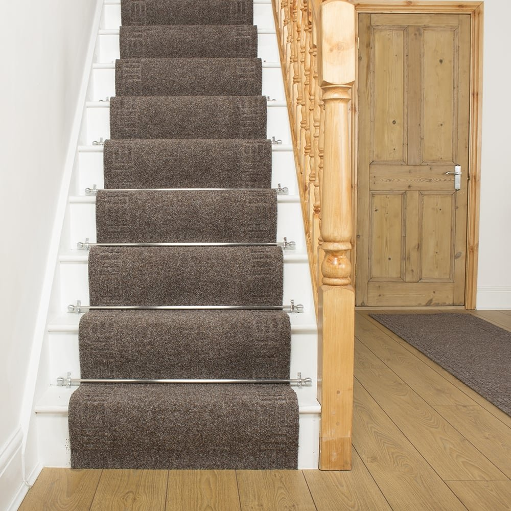 Mega Brown Stair Carpet Runner