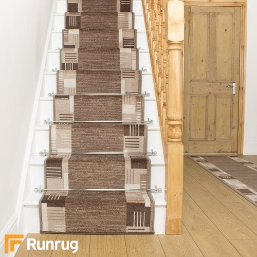 Montana Light Brown Stair Runner