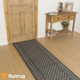 Montrose Dark Grey Hall Runner