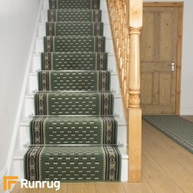 Montrose Green Stair Runner