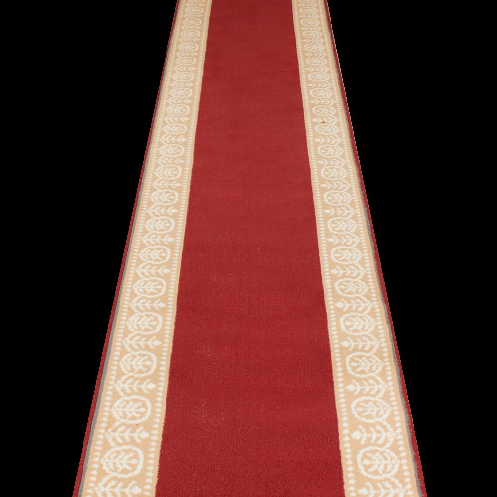 Red Hall Runner Rug - Motif - Carpet Runners UK