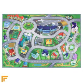 Non-Slip Playmat - City Airport Map Multi