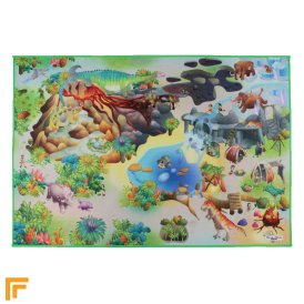 Non-Slip Playmat - Dino Map Multi