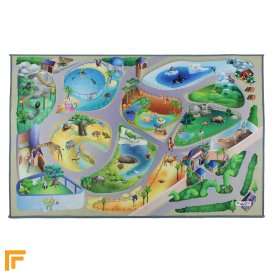 Non-Slip Playmat - Zoo Map Multi