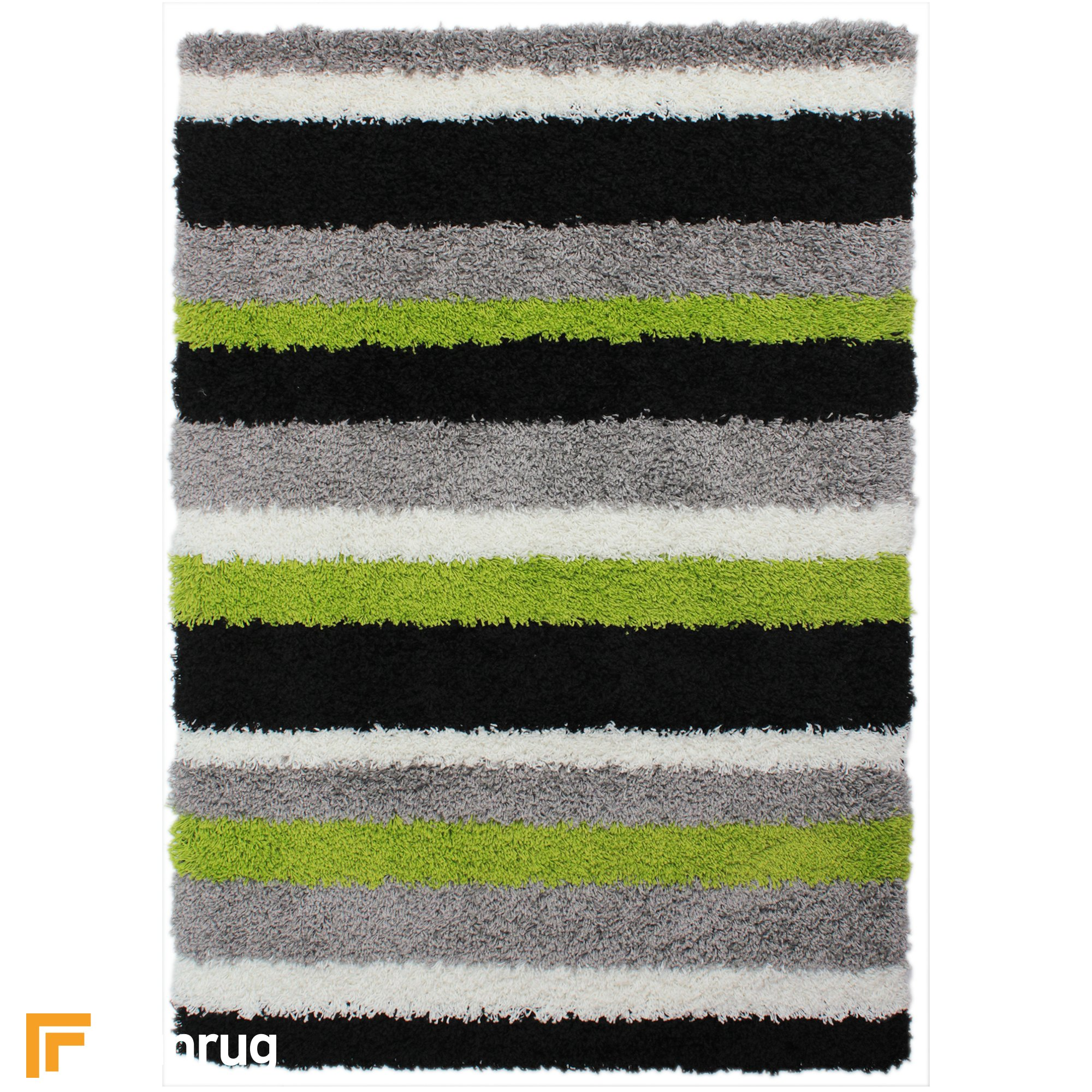 Lime Green Grey Area Rug: Channel Lime Green/Grey