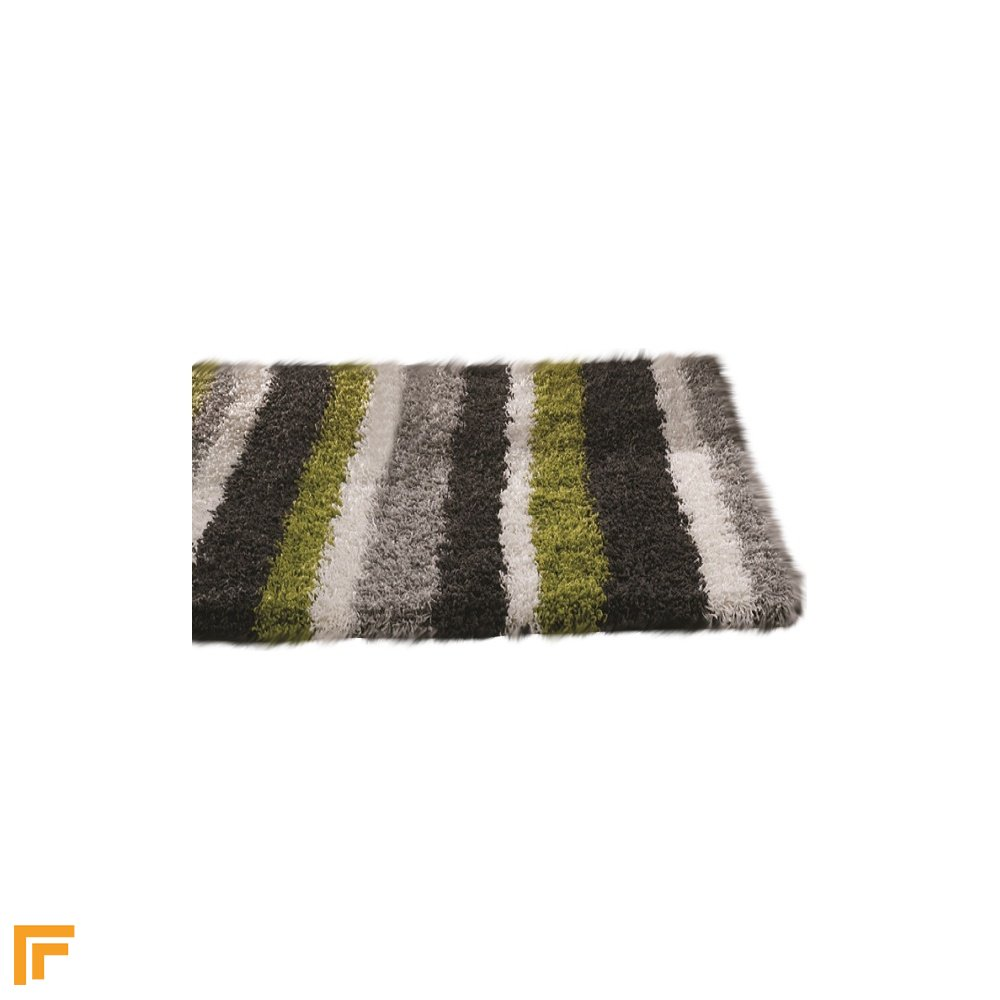 Lime Green Grey Area Rug