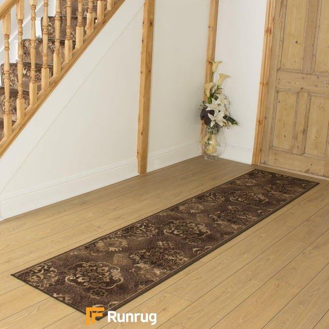 Pallas Dark Brown Hall Runner