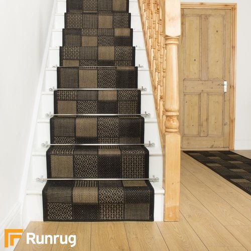 Patch Black Stair Runner