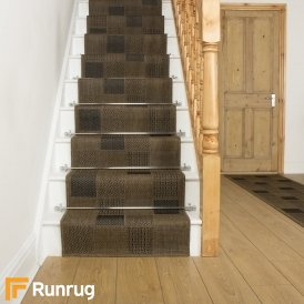 Patch Brown Stair Runner