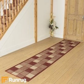 Patch Red Hall Runner