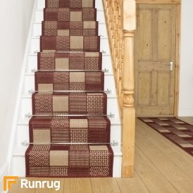 Patch Red Stair Runner