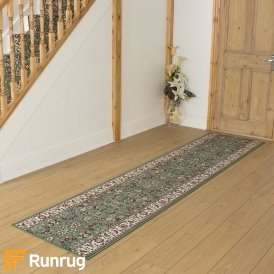 Persian Light Green Remnant - Length: 210cm (6ft 11in) x Width: 70cm (2ft 4in)